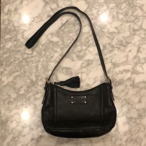 Kate Spade New York black leather crossbody purse
